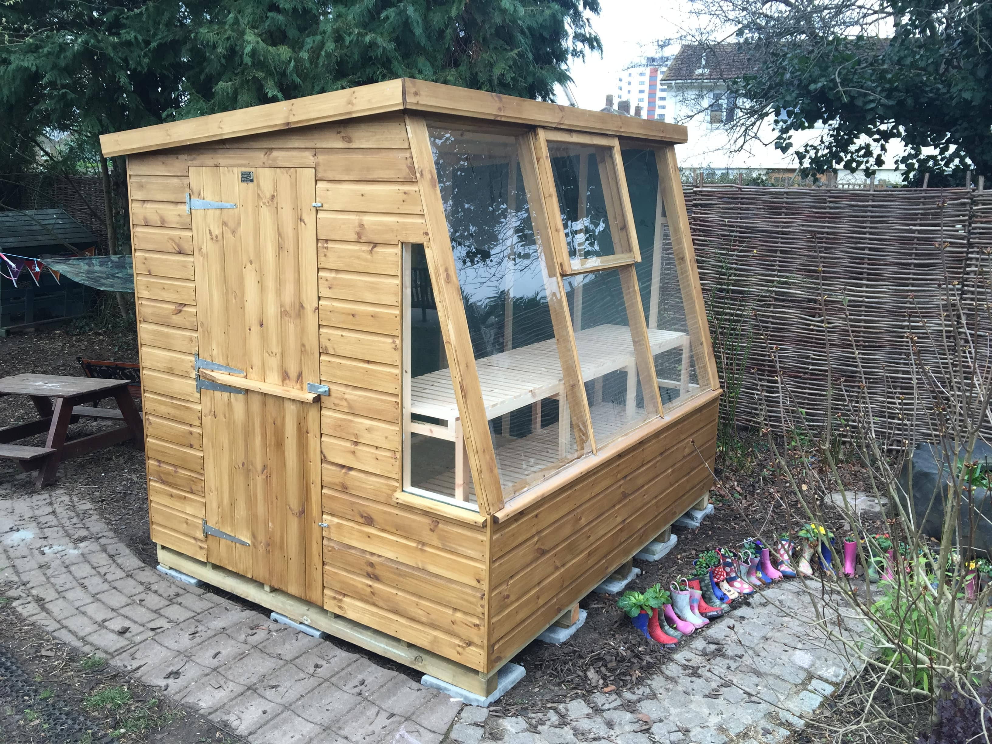 tour saturday wish on last to and with garden natural shed i benches loved that just tools homemade like potting handy see other sheds was gardening so excellent an the thoughts